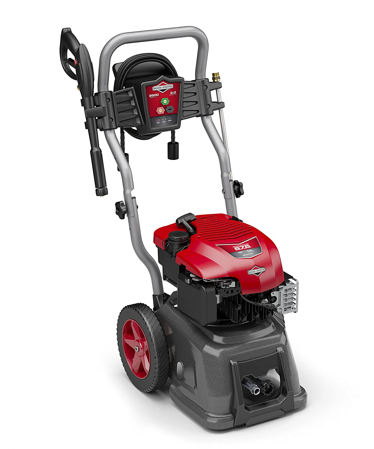 Amazon.com : Briggs & Stratton 20594 2.3-GPM 2600-PSI Gas Pressure Washer  with Full Steel Frame, 675-Series 190cc Engine and ReadyStart Technology,  ...