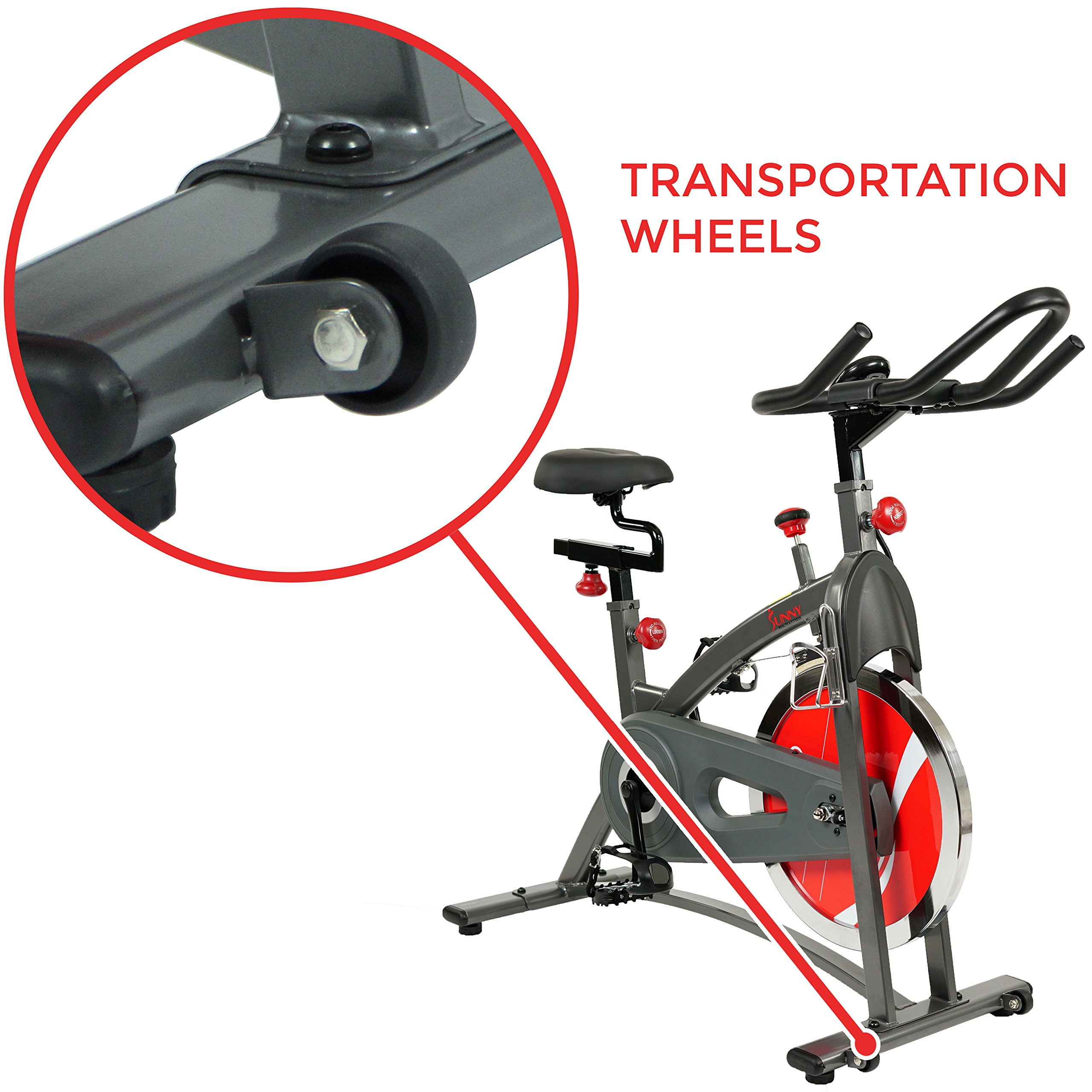 Sunny Health & Fitness Belt Drive Indoor Cycling Bike SF-B1423 by Sunny Health & Fitness (Image #8)