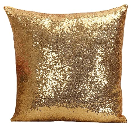 Multi-size Glitter Sequin Cushion Cover LivebyCare Satin Sparkling Throw Pillow Case Sham Pattern Zipper
