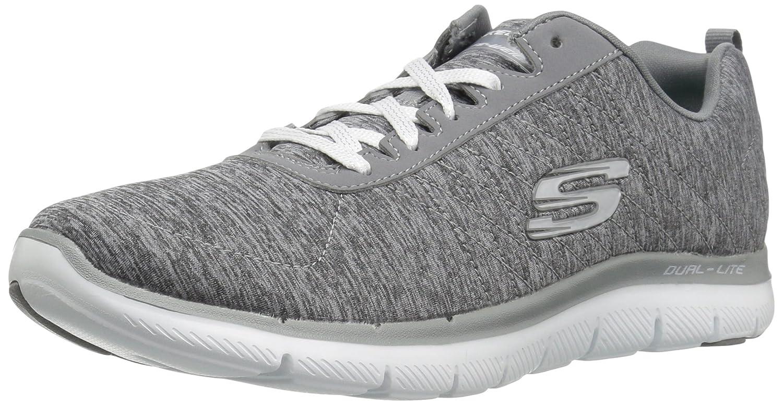 Grey  White Skechers Sport Women's Flex Appeal 2.0 Fashion Sneaker