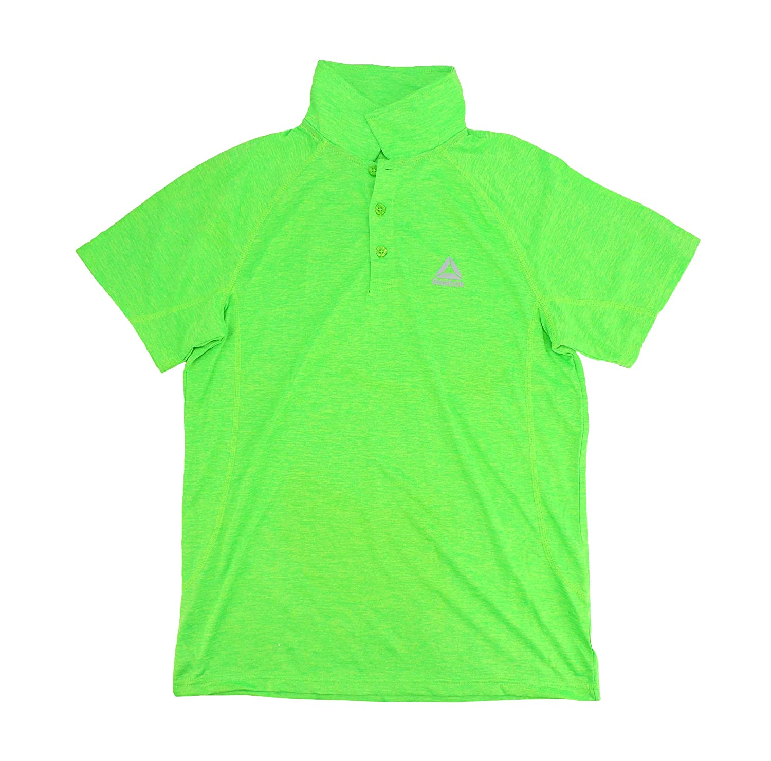 Reebok Boys Turtle Heather Green Polo Performance Shirt 14-16
