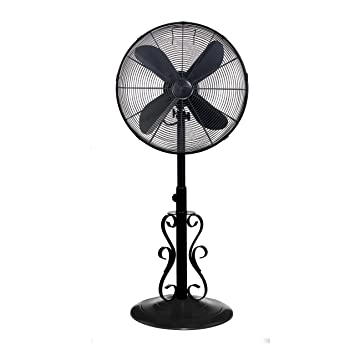 outdoor patio fans pedestal. Indoor And Outdoor 18\u0026quot; Standing Pedestal Fan - Beautiful Style Keeps You Cool All Year Patio Fans