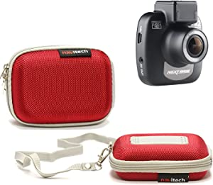 Navitech Red Water Resistant Dash Cam Case Cover Compatible with The Transcend 16 GB DrivePro 200 Car Video Recorder with Built-in Wi-Fi