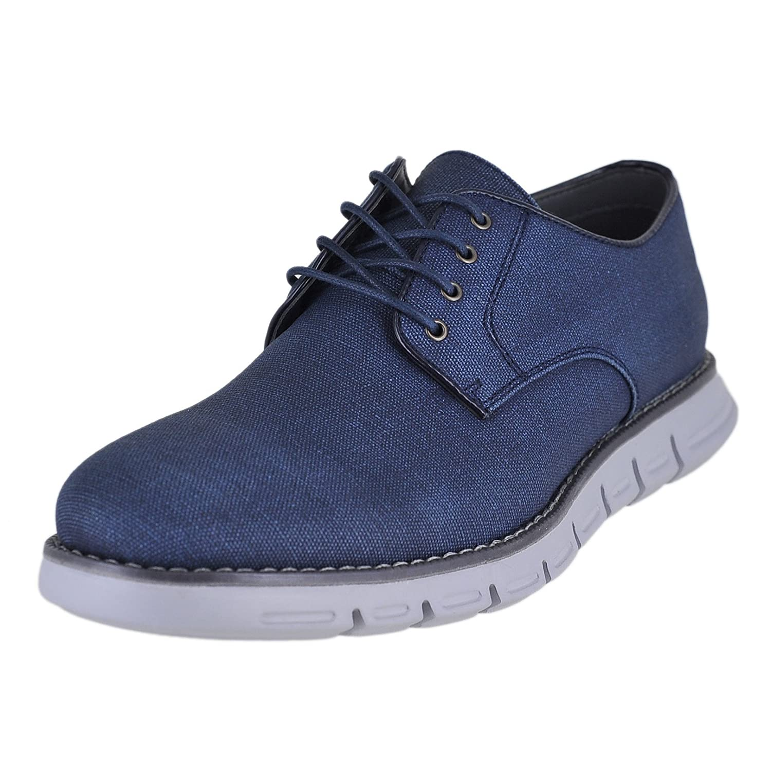 GBX Hurst Men's Classic Plain Toe Casual Lace up Oxford Shoes