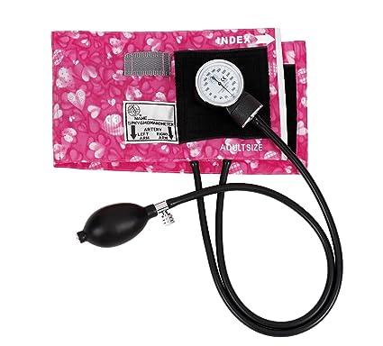Prestige Medical – Tensiómetro aneroide rosa corazones
