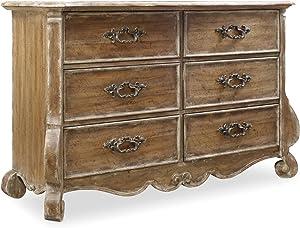 Hooker Furniture Chatelet 6 Drawer Dresser in Caramel Froth