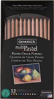 product image for General Pencil 4400-12A General's Pastel Chalk Pencils, 12 Colors, Multicolor