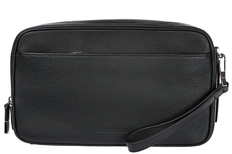 (ディオール オム) DIOR HOMME セカンドバッグ レザー ブラック 1DSCL020-TAB900[並行輸入品] B073WV256V