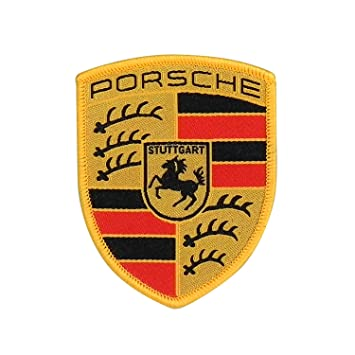 Porsche Crest Sew,on badge