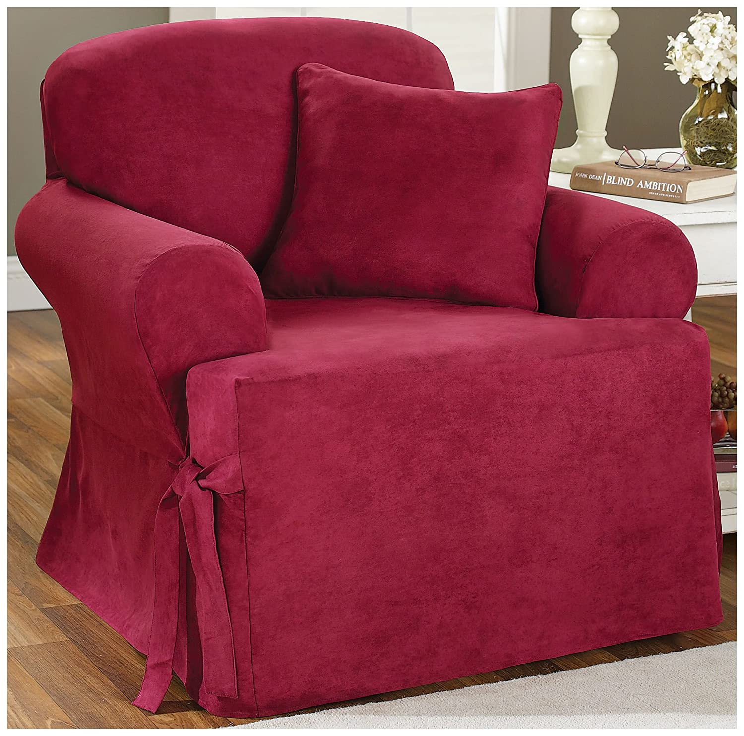 Amazon Sure Fit Soft Suede T Cushion Chair Slipcover