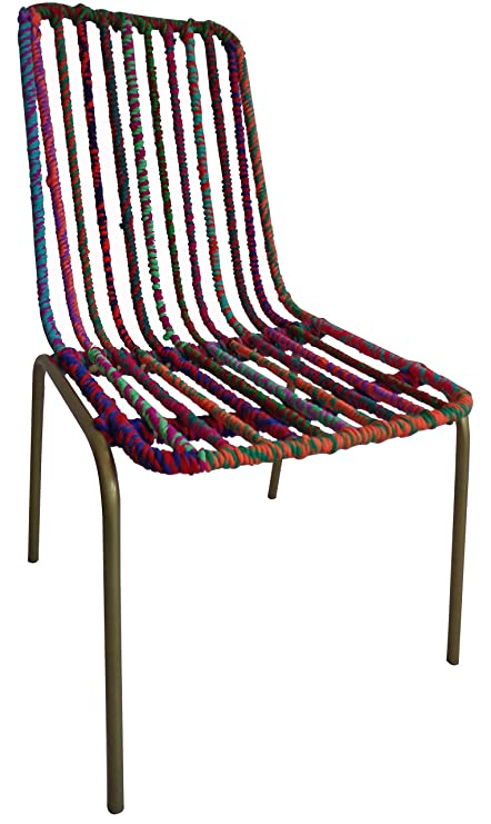 Amazoncom Upcycled Emporium Colorful Paisley Dining Chair For
