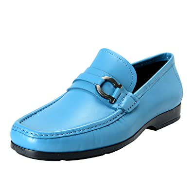 Gerolamo1 Men's Blue Loafers Shoes US 10.5 EU 9.5 IT 43.5 EE