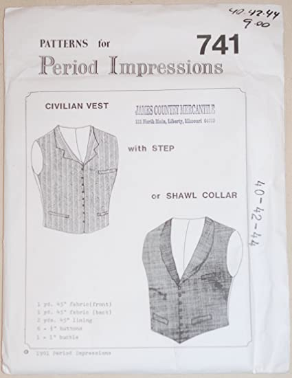 Amazon 1850s To Late 1800s Vest With Step Or Shawl Collar
