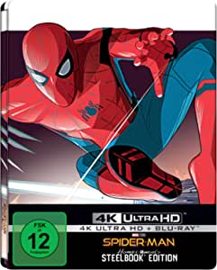 DVD Spiderman Homecoming UHD Steelbook [Blu-Ray] [Import]