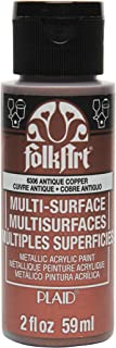 product image for FolkArt Multi-Surface Metallic Paint in Assorted Colors (2 oz), Metallic Antique Copper