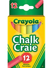 Crayola 12 Coloured Chalk, School and Craft Supplies, Teacher and Classroom Supplies, Gift for Boys and Girls, Kids, Ages 3,4, 5, 6 and Up, Arts and Crafts, Back to school, School supplies, Gifting