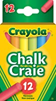 Crayola 12 Coloured Chalk, School and Craft Supplies, Teacher and Classroom Supplies, Gift for Boys and Girls, Kids,...