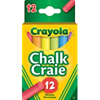 Crayola 12 Coloured  Chalk, School and Craft Supplies, Teacher and Classroom Supplies, Gift for Boys and Girls, Kids, Ages 3,4, 5, 6 and Up,  Arts and Crafts