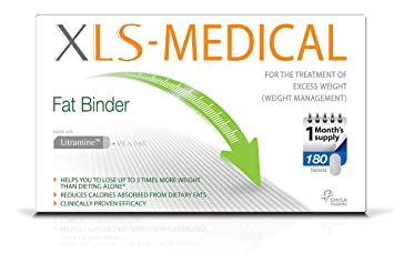Xls Medical Fat Binder Tablets Weight Loss Aid 1 Month Supply Pack 180 Tablets