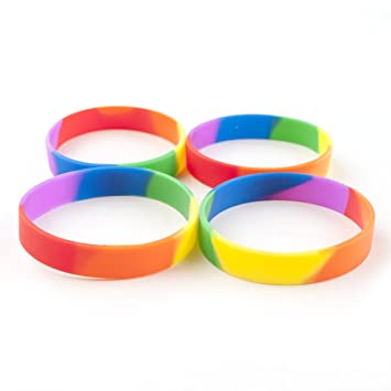 silicone rubber category own and printed customize bracelets wristbands your bands silicon image