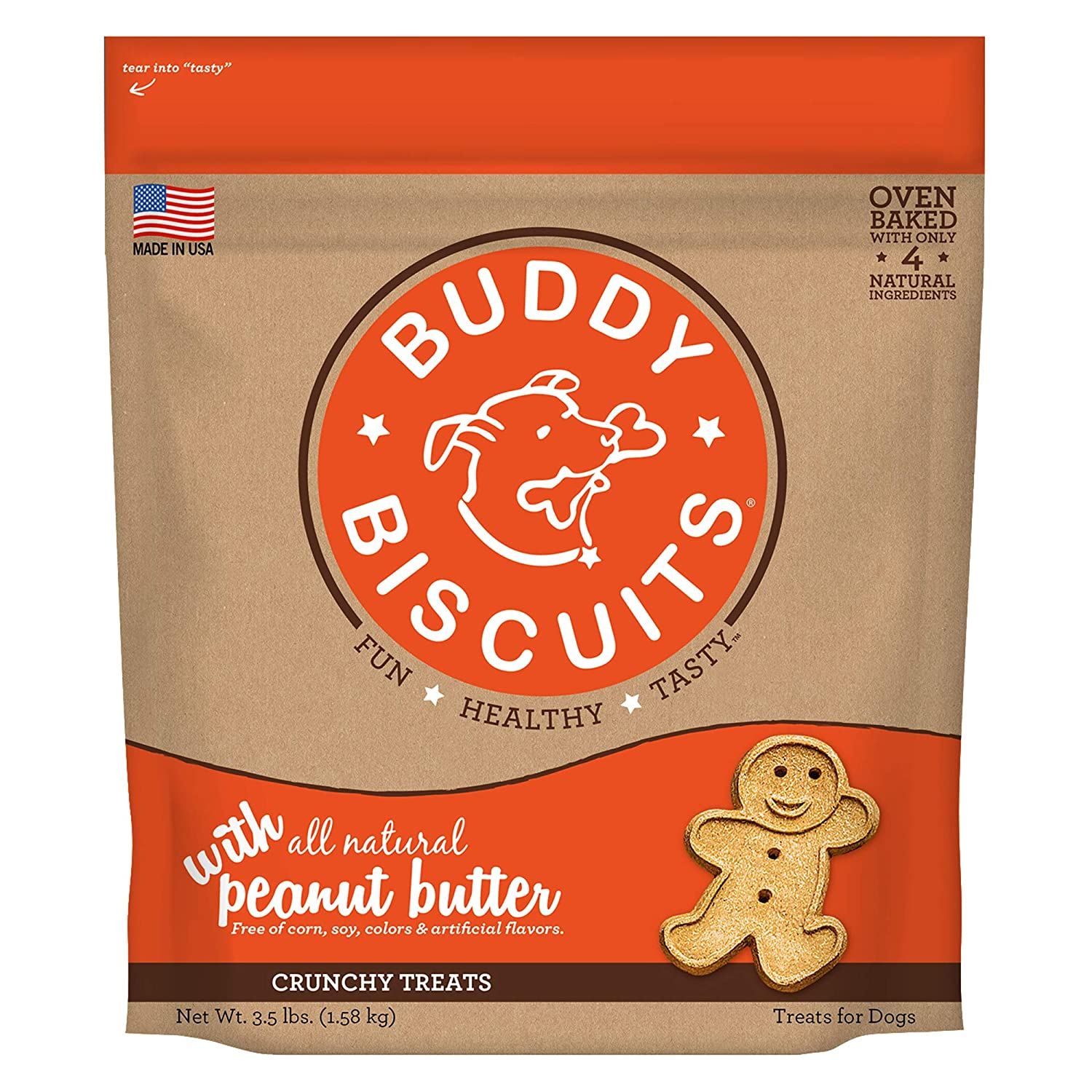 Buddy Biscuits Biscuits Original Oven Baked Treats With Peanut Butter - 3.5 Lb, 1 Piece