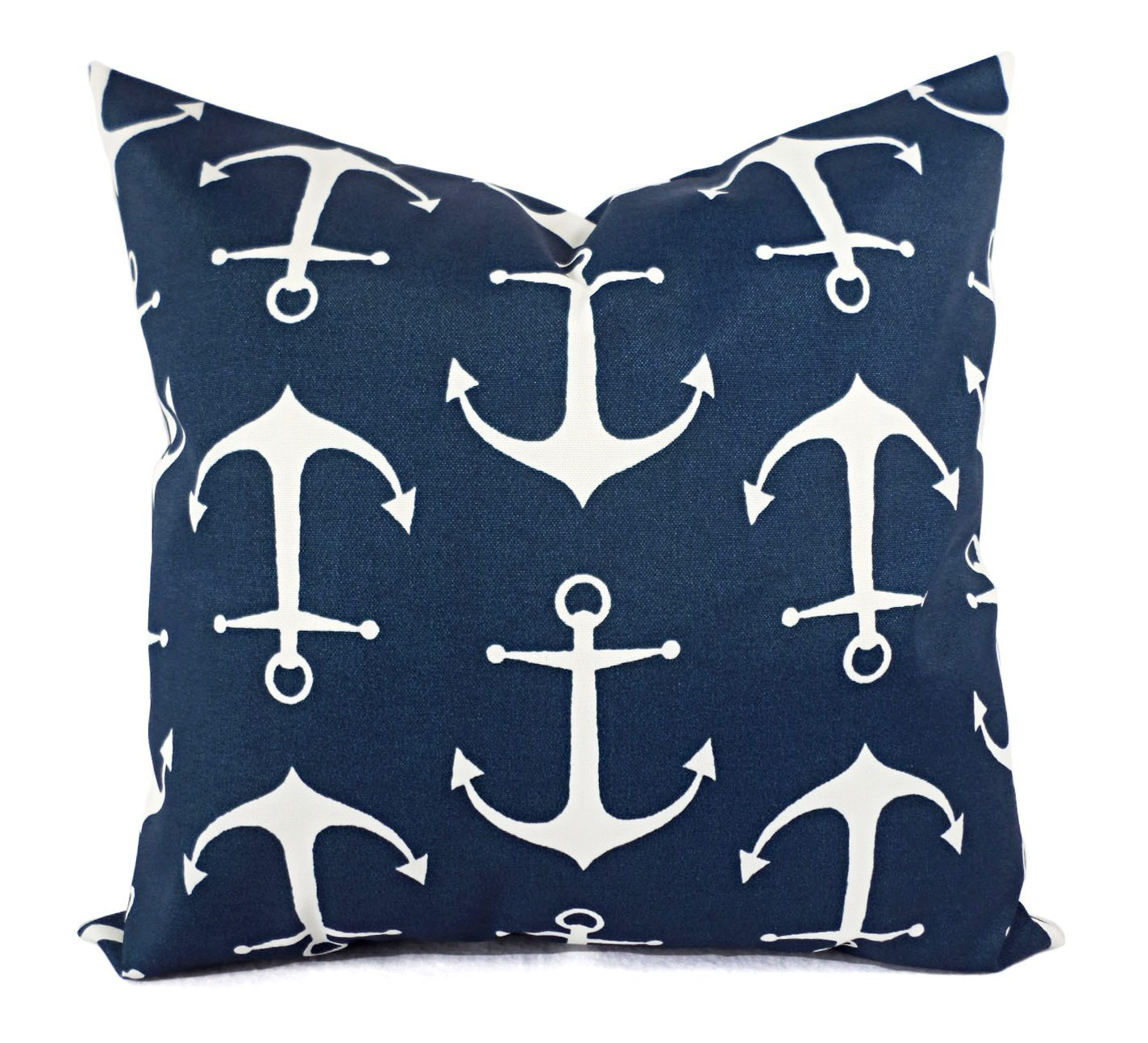 Outdoor Pillow Cover - Navy Sailor Pillow Shams - Blue Nautical Pillow Covers - Outdoor Pillow Cases - Decorative Pillows - Accent Pillows