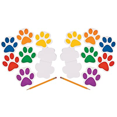 Fun Express Paw Print Notepads (Party Favor Pack: 48 Count): Health & Personal Care