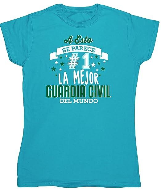 HippoWarehouse A Esto Se Parece #1 La Mejor Guardia Civil Del Mundo camiseta manga corta ajustada para mujer: Amazon.es: Ropa y accesorios