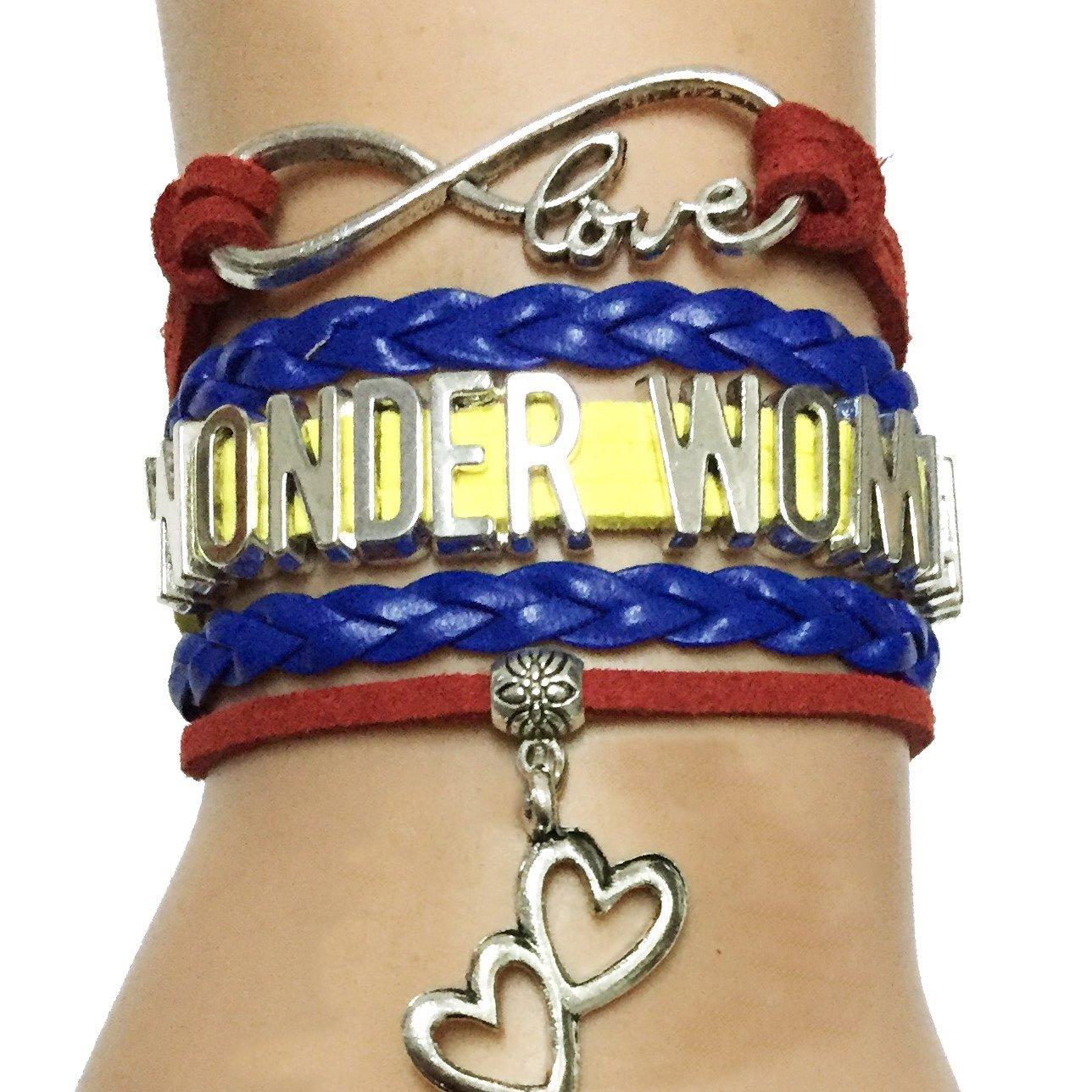 DOLON Brand Wonder Woman Bracelet - Comic-Con -Infinity Jewelry - Cosplay - Perfect Gift idea
