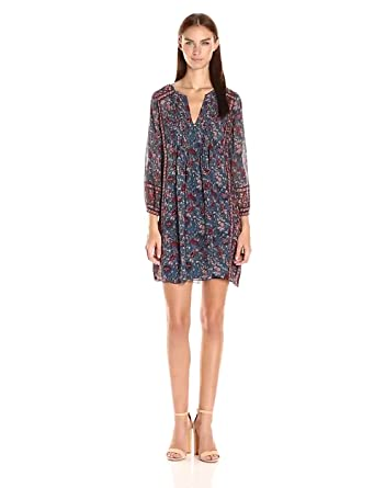 Joie Women's Dulceornate Floral Printed Georgette 14Mm, Deep Marine, X-Small