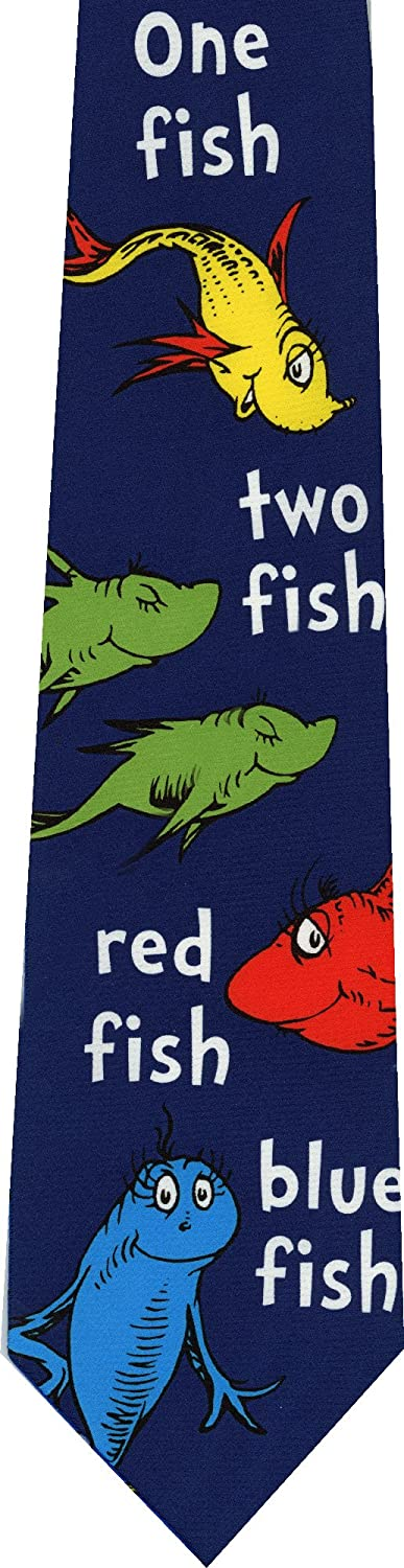 Dr Seuss One Fish Reversible Lisenced New Mens Novelty Necktie
