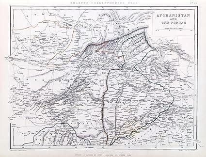 Punjab World Map.Amazon Com World Atlas 1848 Afghanistan And The Punjab