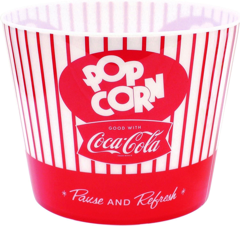 """Tablecraft Coca-Cola Popcorn/Snack Bucket""""Pause & Refresh"""" (CC400), Red"""
