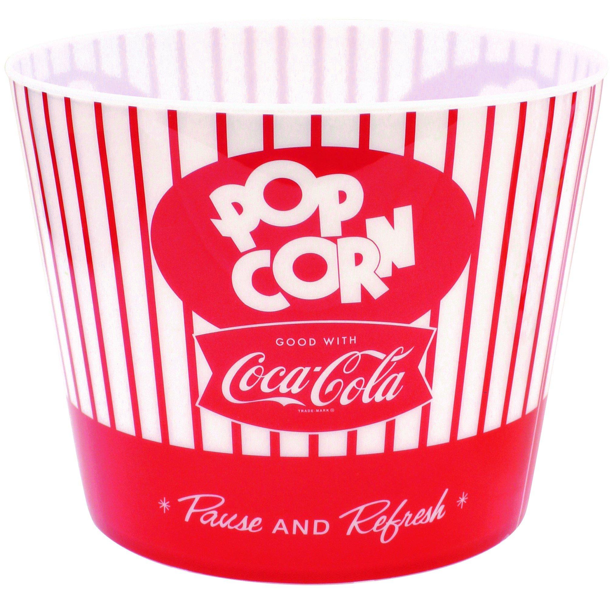 Tablecraft Coca-Cola Popcorn/Snack Bucket''Pause & Refresh'' (CC400), Red