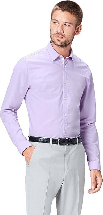Marca Amazon - find. Camisa Entallada Clásica para Hombre: Amazon.es: Ropa y accesorios