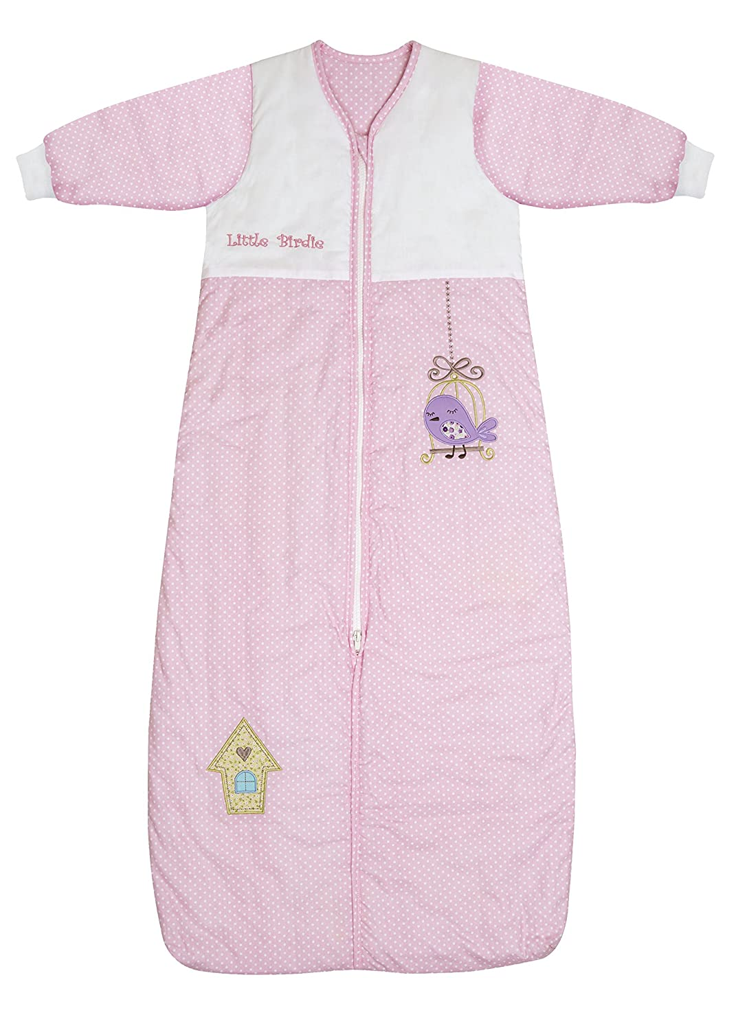 Slumbersac Baby Sleeping Bag Winter Weight approx 3.5 Tog - Pink Bird House, 12-36 months/110cm