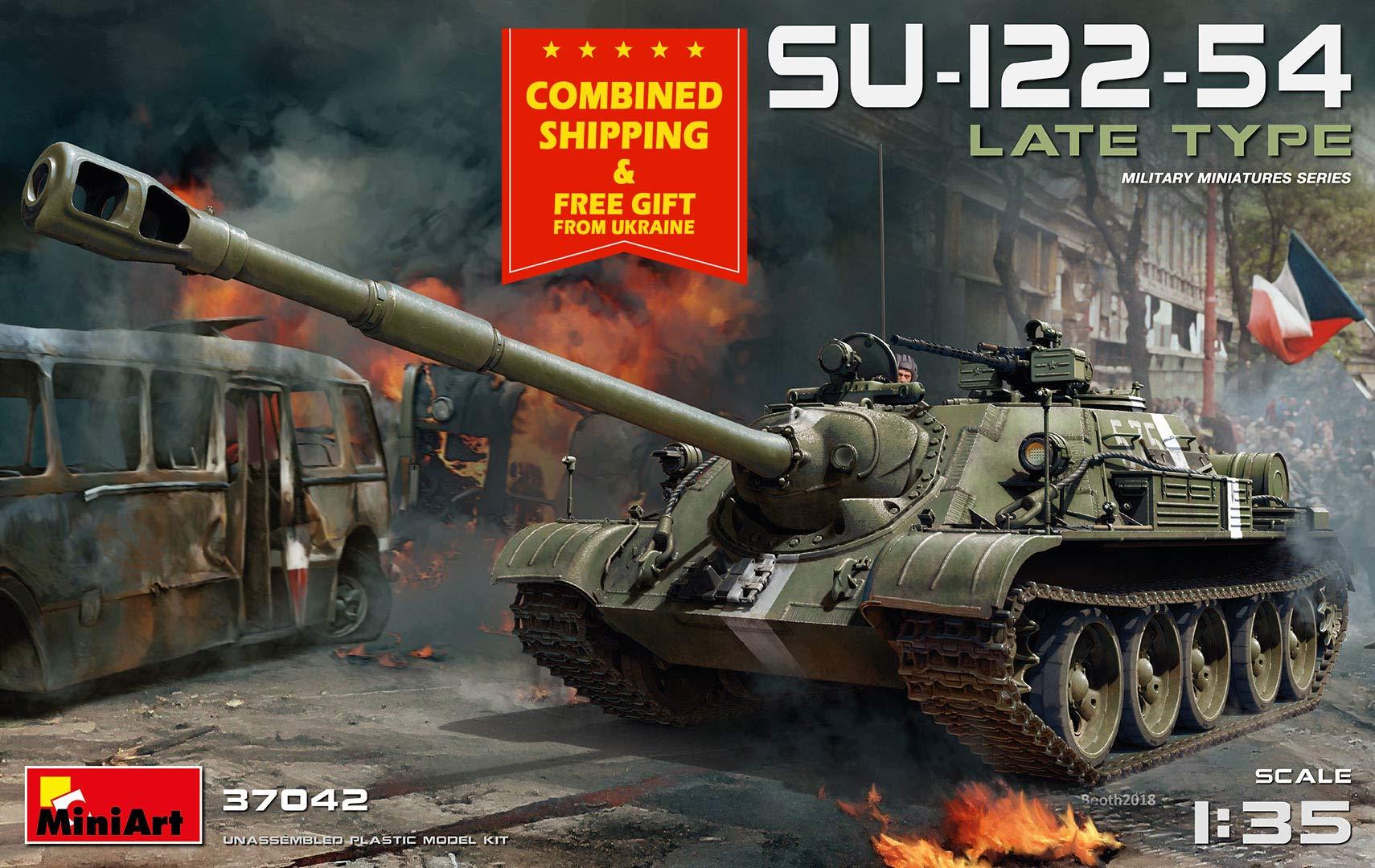 MINIART 37042 SU-122-54 Late Type USSR self-propelled artil 1/35 Scale Model kit