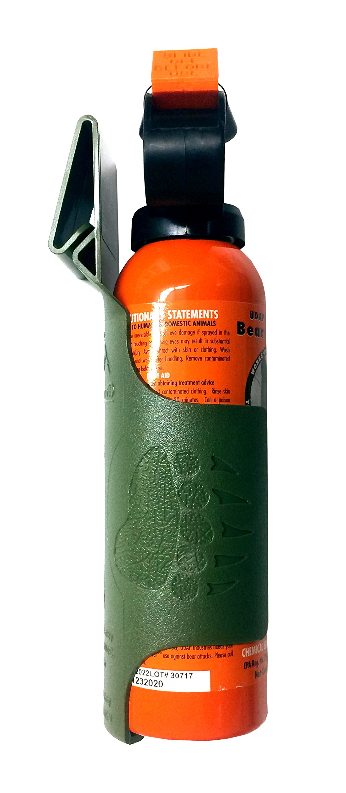 Udap Bear Spray Safety Orange with Griz Guard Holster (Moss) by Udap (Image #3)
