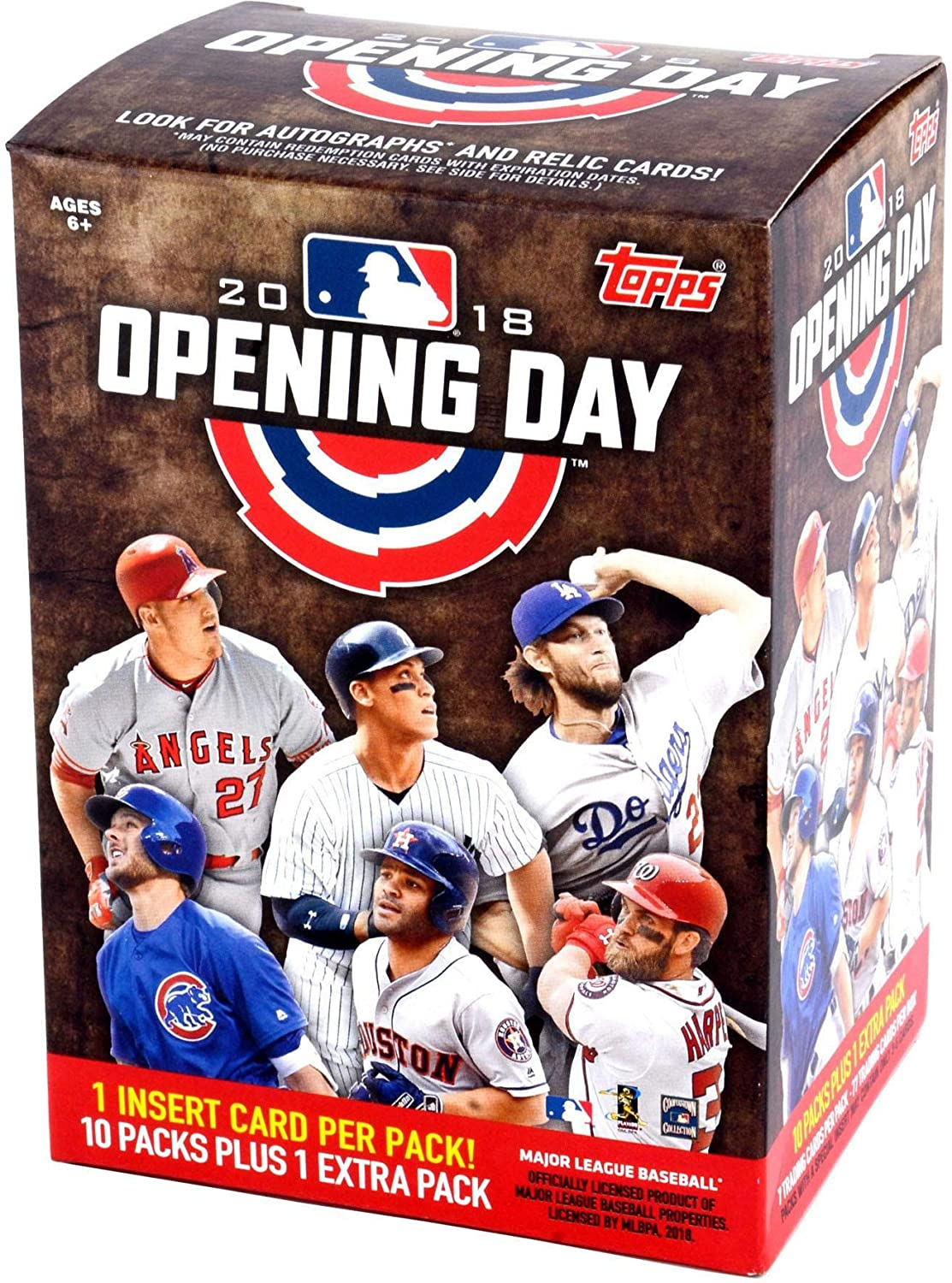 2018 Topps Opening Day Baseball Factory Sealed 11 Pack Blaster Box - Baseball Wax Packs Fanatics Authentic