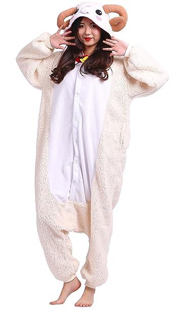 Pijama Ovejas, Onesie Modelo Animal Cosplay para Adulto entre 1,48 y 1,