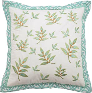 Waverly Modern Poetic Decorative Pillow, 16x16, Teal