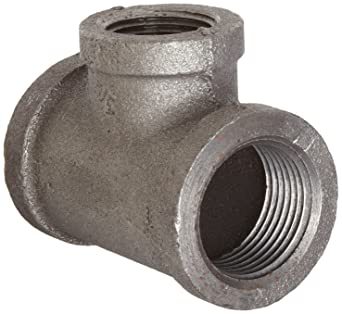 Everflow Supplies GMRT0121 1//2 x 1//4 Galvanized Malleable Reducing Tee with Female Threaded Fitting