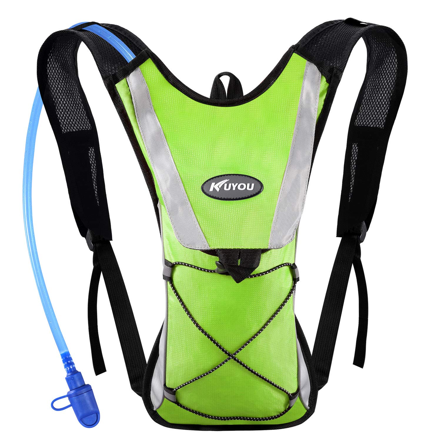 KUYOU Hydration Pack Water Rucksack Backpack Bladder Bag Cycling Bicycle Bike/Hiking Climbing Pouch + 2L Hydration Bladder,(Green+Water Pouch) by KUYOU