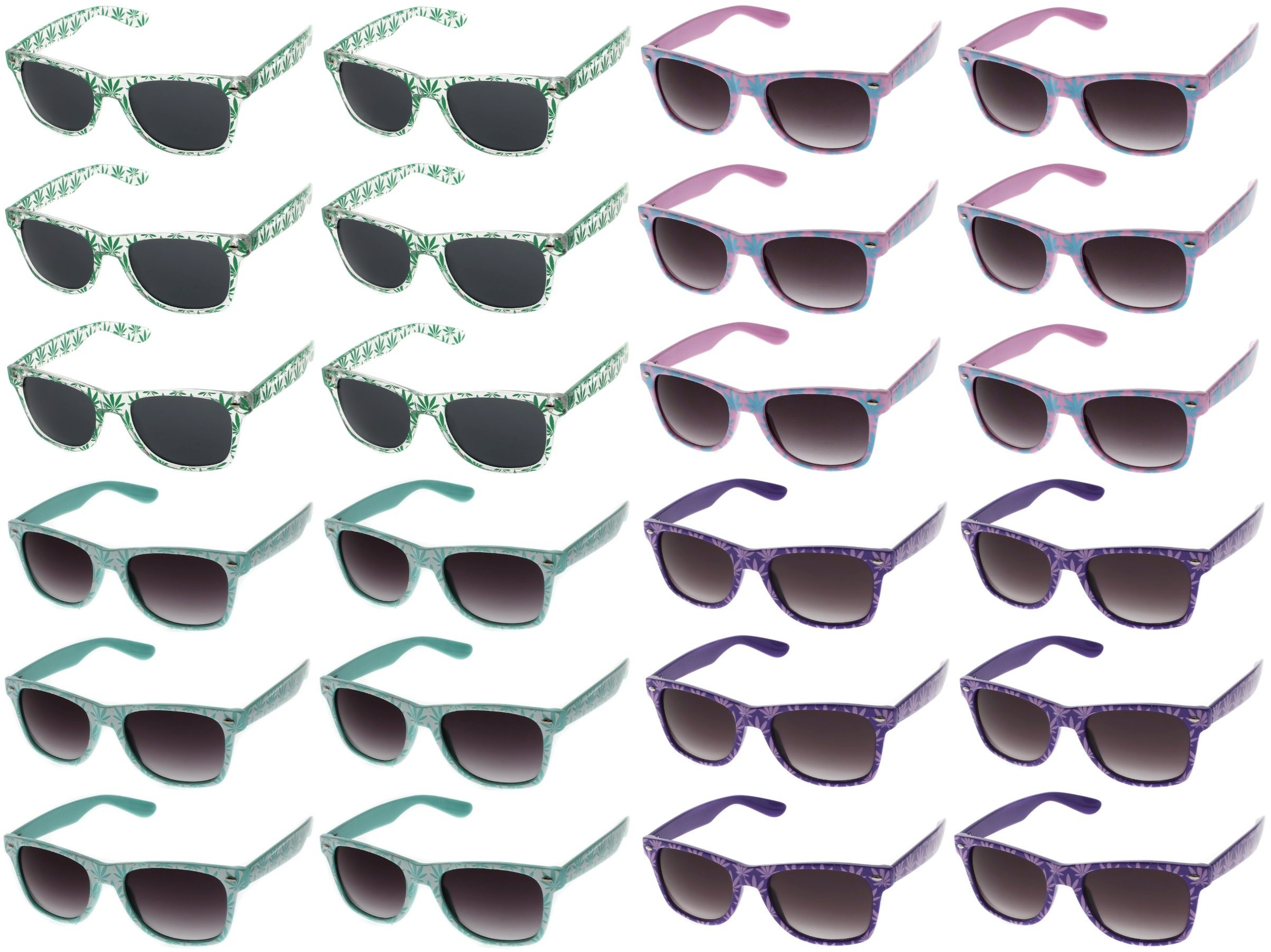 Assorted Metallic Gold Stylish Design Sunglasses Festival Party Shades 4 Pack