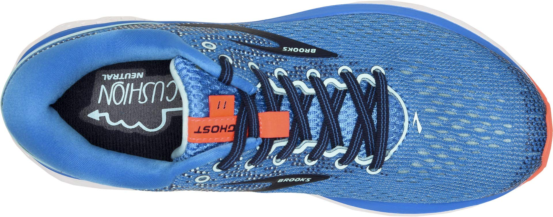 Brooks Women's Ghost 11 Blue/Navy/Coral 5 B US by Brooks (Image #2)