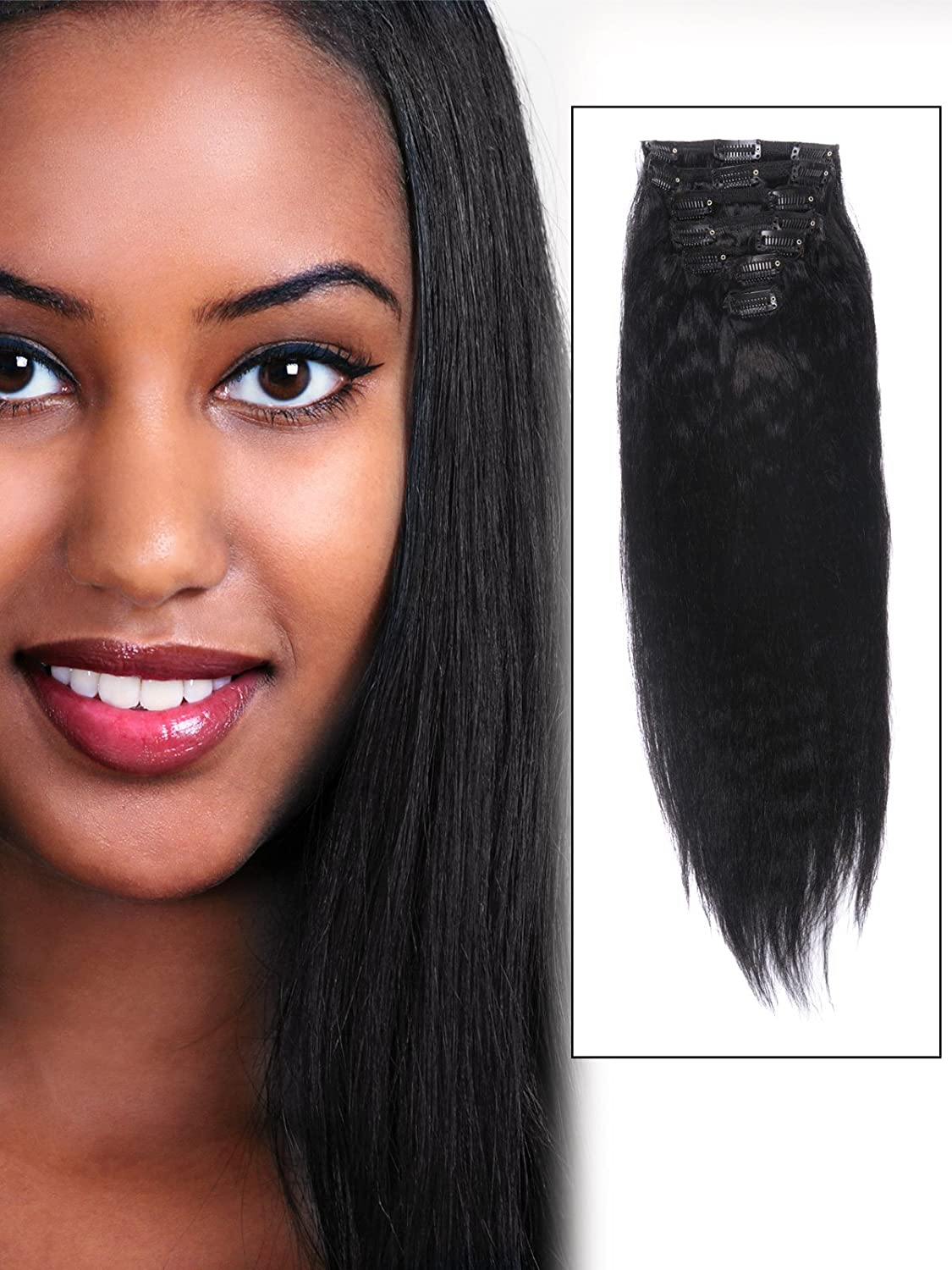 Amazon Abhair Cheap Real African American Long Clip In Remy