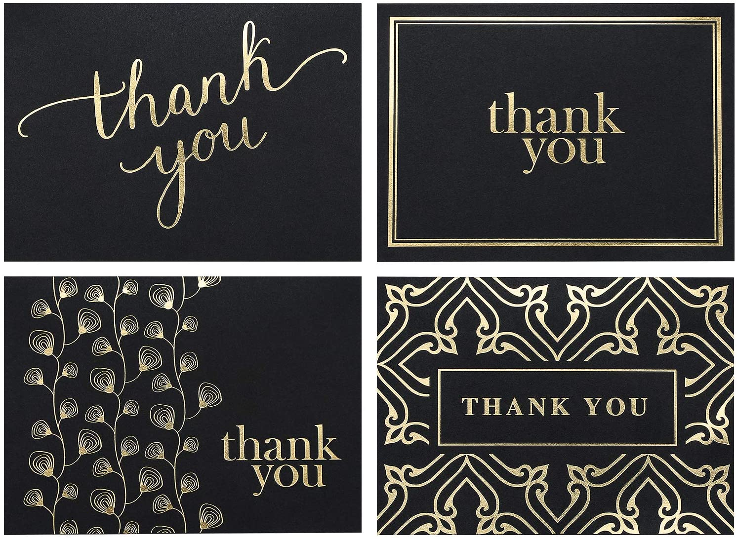 FREE SHIPPING Bold Thank you Card in Black and White