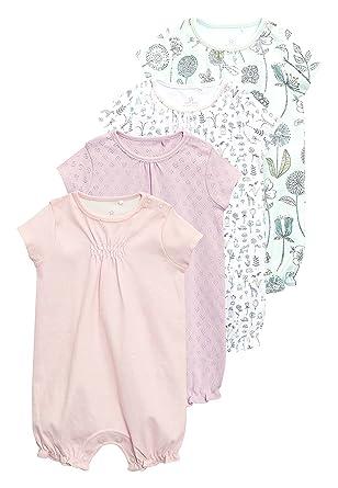 next Bebé-Niñas Pack De Cuatro Peleles con Estampado Floral (0 Meses - 2
