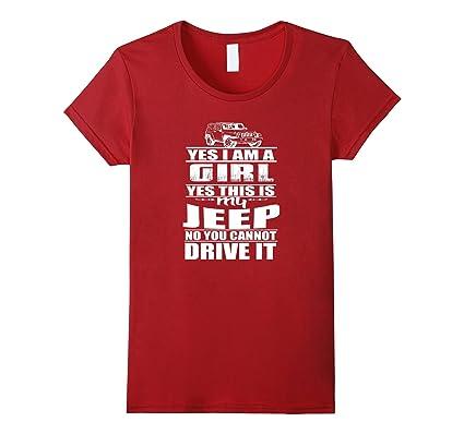 Jeep Girl T Shirt Yes I Am A Girl Damen Grosse Xl Cranberry