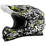 O'Neal 3Series Attack Motocross Helm Schwarz Rot MX Enduro Trail Quad Cross Offroad, 0623-13